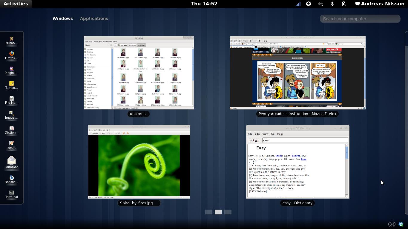 La web de Gnome3