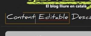 Elements editables en HTML5