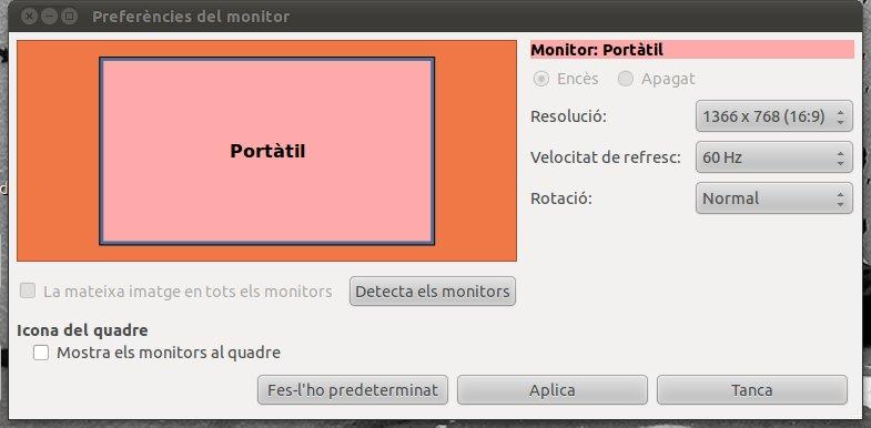Afegir resolució d'un monitor extern a Linux