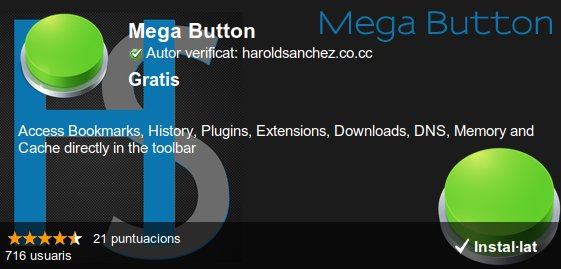 Mega Button, extensió per Google Chrome