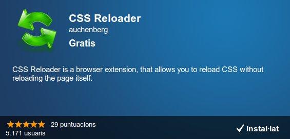 CSS Reloader, extensió de Chrome