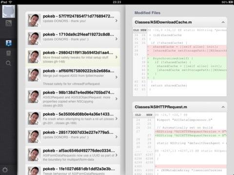 iHub, client de GitHub per l'iPad